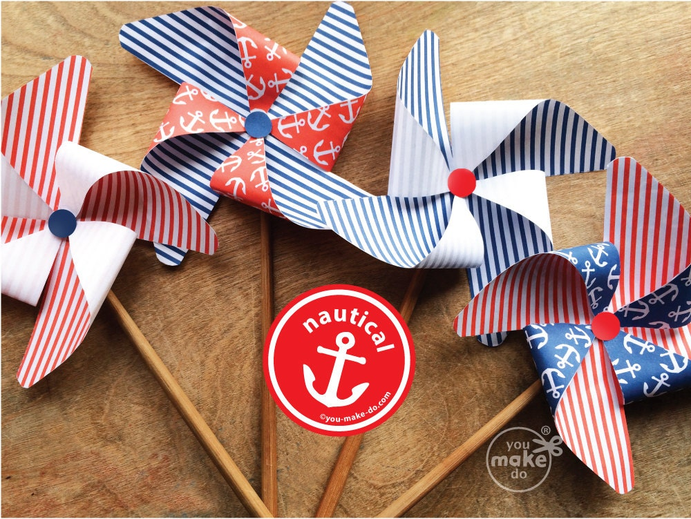 Nautical party decorations nautical birthday decorations for Anchor decoration party