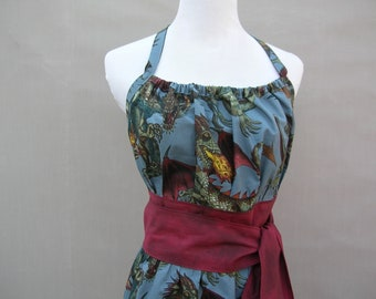 Ladies Apron in Alexander Henry Tale of the Dragon fabric