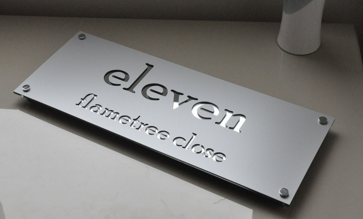 Custom Made Laser Cut House Signs Numbers And Plaques