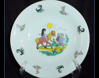 Bareuther Waldsassen Vintage Bavarian Nursery Rhyme Bowl