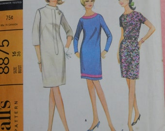 McCall's 8875 Uncut vintage dress pattern in size 16