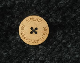 Engraved Wooden Buttons, Custom Wooden Buttons, Personalized Buttons, 10 Custom Buttons