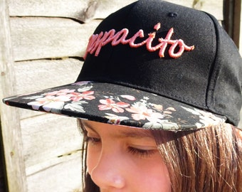 3D CUSTOM Embroidered Personalised  Baseball Cap for Ladies. 3D Despacito Embroidered Personalised Ladies Cap. Despacito. 3D Baseball Cap.