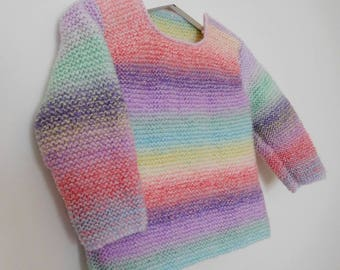 Baby girl sweater, Baby sweater, Handknit sweater, Baby girl knit