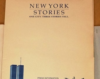 New York Stories  Movie Press Kit   Original 1989 Press Kit -  great 8 x 10 photographs -   Nick Nolte, Woody Allen, Mia Farrow