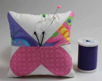Pincushion--Pink and Purple Butterfly