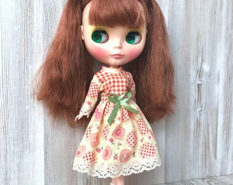 Blythe yellow dress, doll clothes, fashion, doll outfit, 30 cm dolls clothes, 12 inch doll dress, Pullip dress, doll dress, blythe clothing