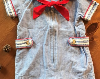 Vintage sailor suit for baby circa 1960s