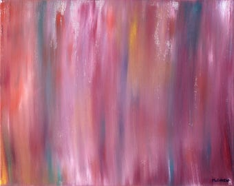 Abstract Oil Painting - Magenta Blend