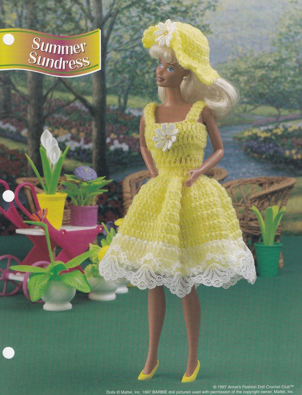 Sommer Sommerkleid Annies Mode Puppe Kleidung häkeln Muster
