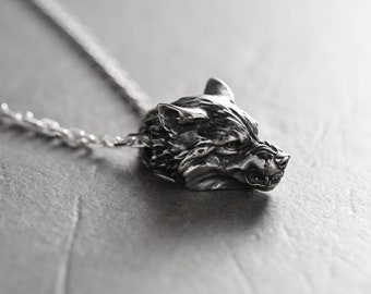Wolf Jewelry Wolf necklace Werewolf pendant Werewolf jewelry Animal jewelry Wolf totem Viking wolf Men's gift Wolf head Wolves Bad wolf