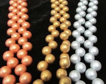 Czech Druk Top-Hole 8mm Matte beads