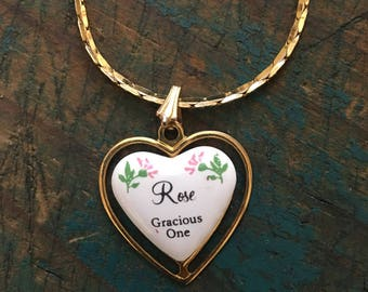 Gorgeous vintage gold necklace for the wonderful Rose in your life!