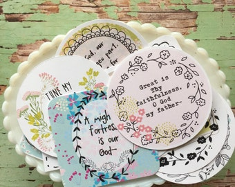 Hymn Cards- Lovely Floral