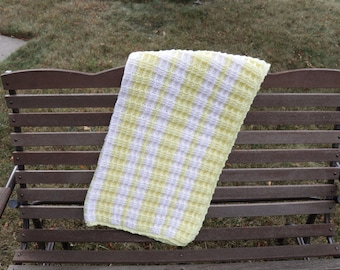 Yellow and White Baby Afghan