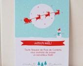 Carte de voeux de Noël enneigé modifiable imprimable bricolage / invitation - Instant download