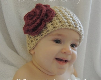 Crochet Trinity Hat (4 Sizes) - PATTERN ONLY