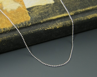 Sterling Silver Ball Chain, Short Silver Chain, 16 18 20 22 or 24 Inch Silver Necklace Chain |CC