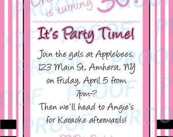 Birthday Party Invitation Digital Design
