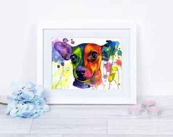 Giclee Print, Dog lover gift, Watercolor Chihuahua painting, Chihuahua wall art, Chihuhua home decor, fine art print, Chihuahua home decor