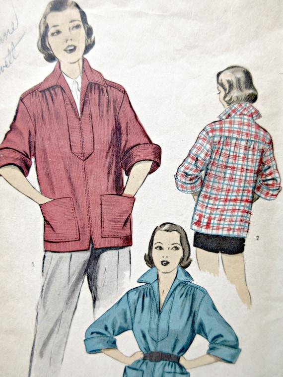 Jahrgang vorab 5859 Schnittmuster 1950er Jahre Hemd Pullover