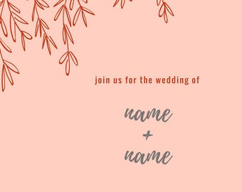 CUSTOMIZED wedding invites