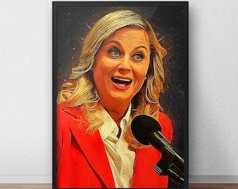Leslie Knope - Leslie Knope poster - Comedy - Parks and Recreation - Leslie Knope print - Tv Series - Vote Knope