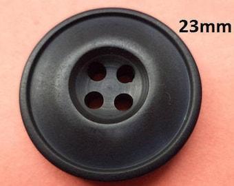 8 Black Knobs 23 mm (657) knob