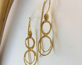 Y2U Design/Free shipping/The Spiral earrings/y2u design/24K Gold plated brass/classic design/timeless/unique/special earrings/gift wrapped/