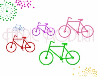 Bicycle Embroidery Design  cycling design  two wheeler  multiple sizes   #417