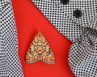 Kusama's Muse Moth Brooch