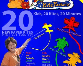 Kite kit makes dozens of kites in just minutes.  They Actually fly!