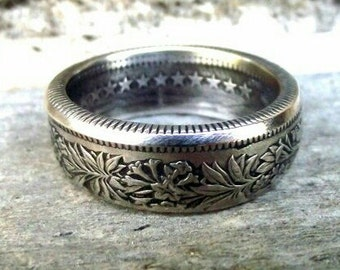 Coin Ring - Silver Swiss 2 Franc Coin Ring 1969 - Size: 9