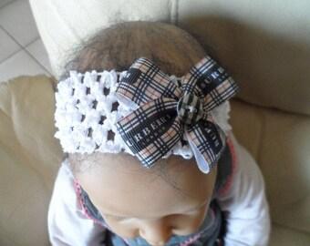 Tartan (0-4 years old) baby headband