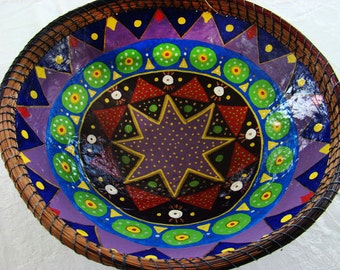 Large Paper Maché Bowl, Handmade Bowls, Decorative Bowls, Paper Bowls, Recycled Paper Bowl, Paper Bowl, Upcycled Paper Bowl, Paper Mache Art
