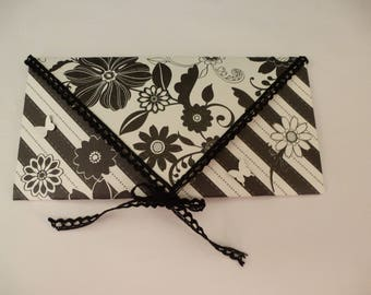 Pretty black and white envelope for card or check example
