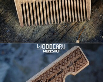 Wooden beard comb men valentine gift beard brush folding comb for men personalized beard comb wood comb men accessories 5 anniversary gift