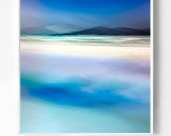 Moody Blue extra large wall art - ABSTRACT  Scottish Photography - Landscape Photography - Giclee Fine Art - Isle of Skye
