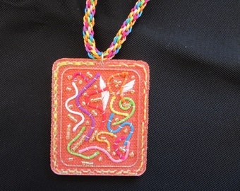 Necklace  labirynth, idea for lover gift or friends