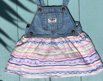 Neon stripe OshKosh dress