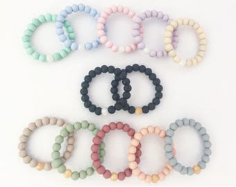 Teething Bracelet // Mommy and Me // Daddy // Chewlery // Natural // Gift //