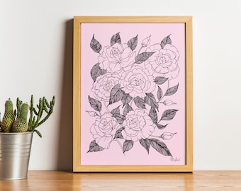 ROSES, Plant, Illustration, Body, Flower Pencil