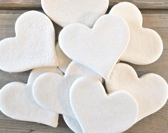 Wholesale DIY Hearts Supplies Collection of 10 Heart Unfinished Salt Dough Ornaments