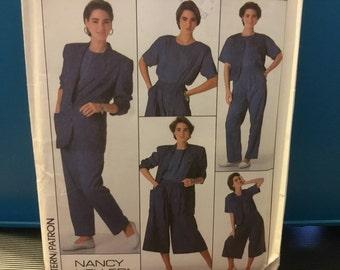 Retro Simplicity ladies pattern 9337 Nancy Keller-go everywhere- (16-22) pull on pants- culottes- top- vest-unlined jacket misses-miss