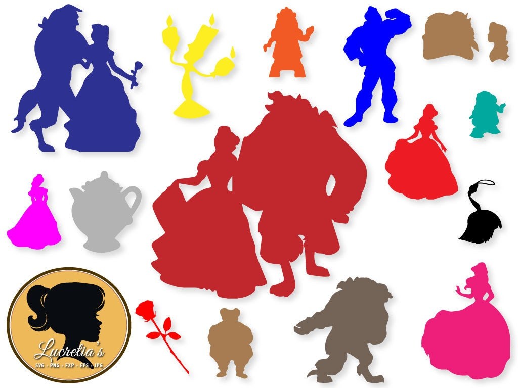 Beauty And The Beast SVG Silhouette