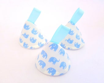 Blue & White Elephants Pee Pee TeePee x3 // Sprinkling Wee Wee Wigwam // Baby Shower, Gift Idea. Newborn Boy.