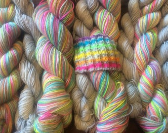 Electric Eleven - Self Striping Sock Yarn