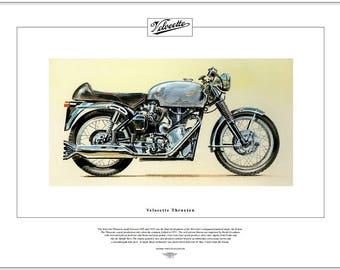 VELOCETTE THRUXTON - Motorcycle Fine Art Print 1965-71