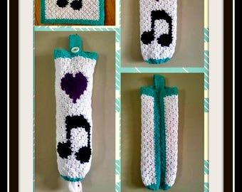 Musical Bag Holder, Crochet Pattern, Mini C2C