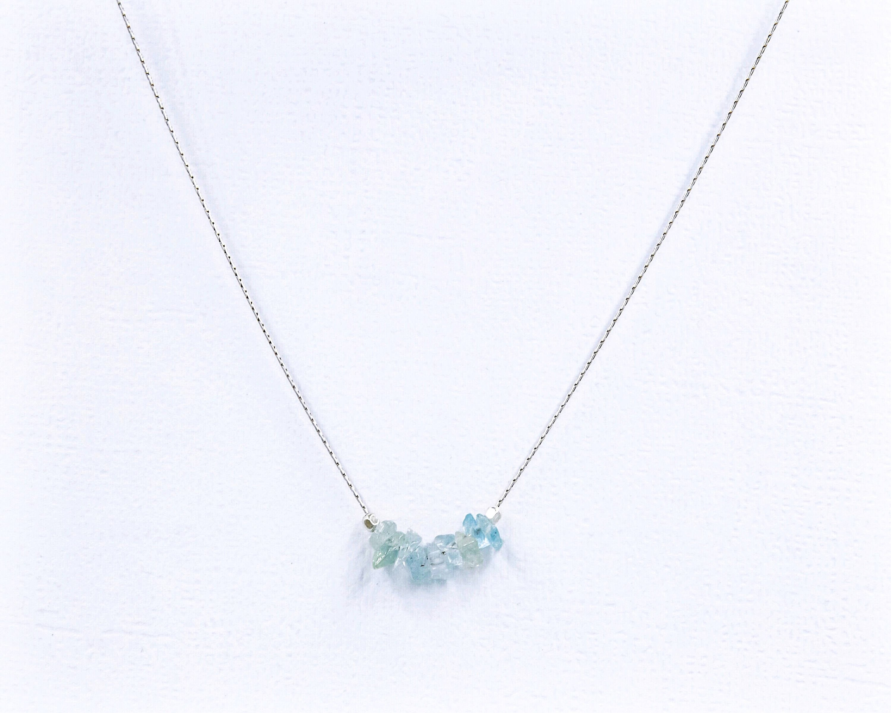 pendant shaped necklace index march birthstone beautiful heart aquamarine
